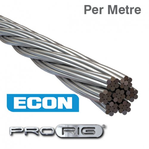 7x7 Wire Rope 316 Grade Stainless Steel (Per Metre)