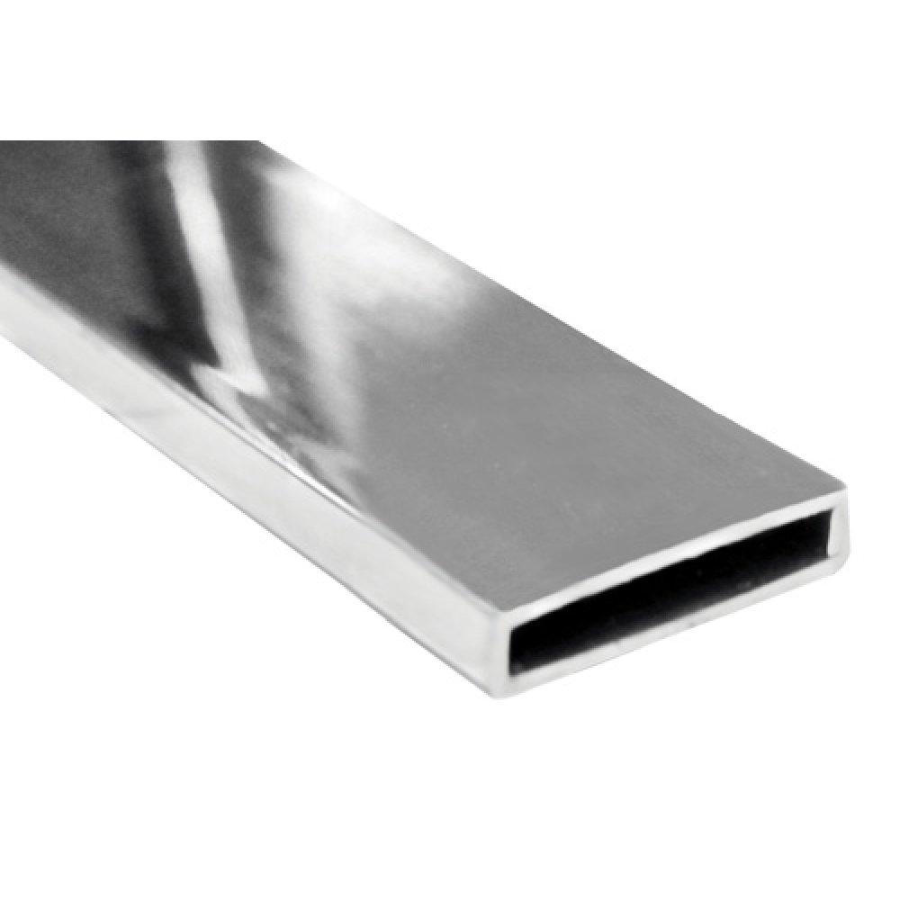 RHS 50mm x 10mm x 1.6mm mirror polish per metre