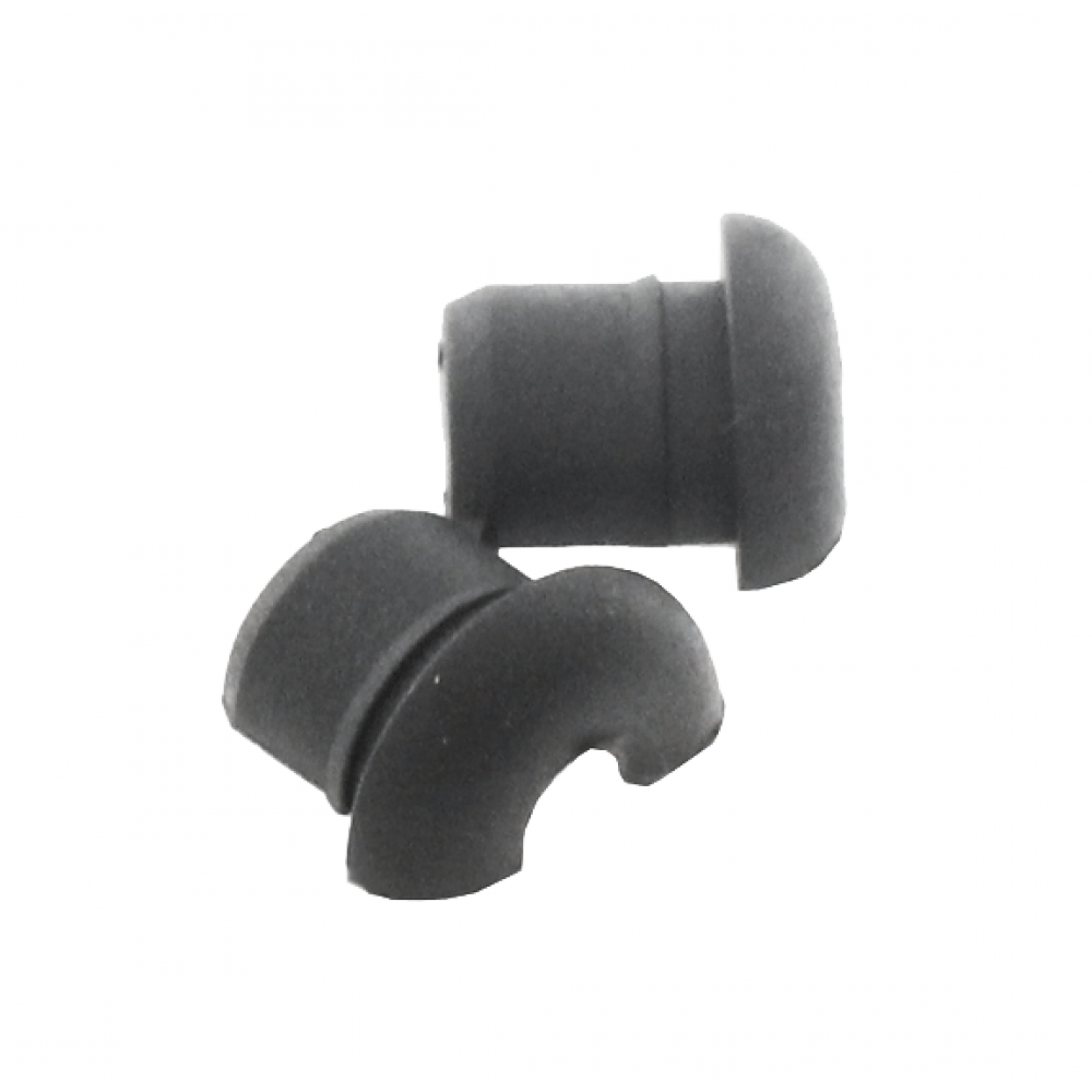Grommet Black with 4.2mm Centre Hole Flat Surface