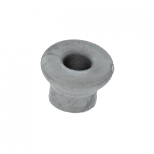 Grommet Grey with 7.2mm Centre Hole Curved Surface