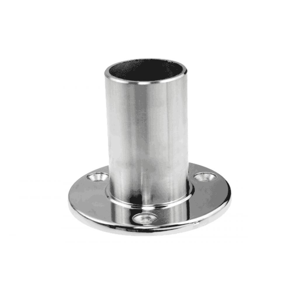 "Base Plate Long 2"" (50mm) x 1.6mm Tube Mirror Polish Econ AISI 316"