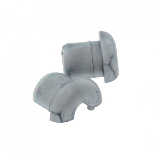 Grommet Grey with 4.2mm Centre Hole Flat Surface