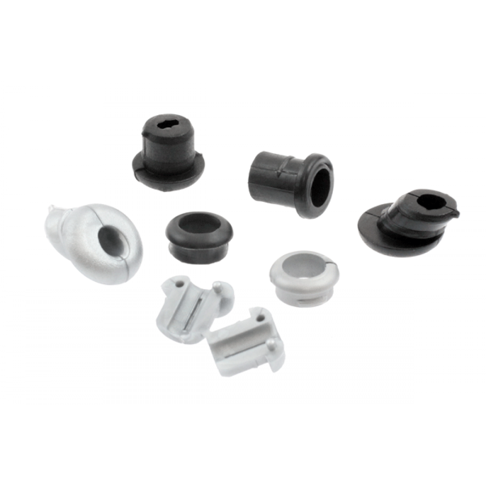 Grommet Black with 8.6mm Centre Hole Flat Surface