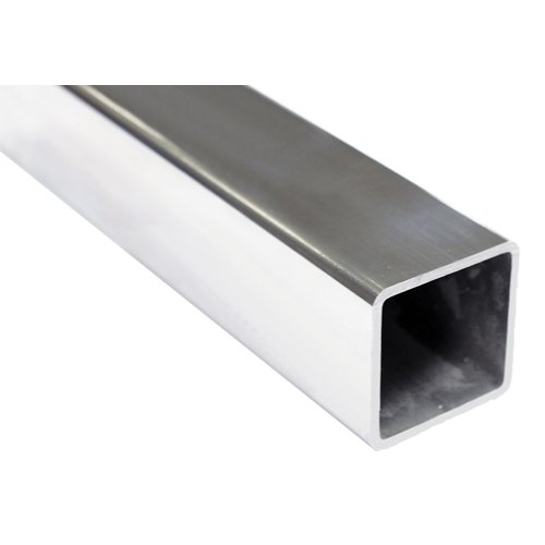 Handrail Tube 50.8mm x 3.0mm Square Mirror Polish AISI 316 Per Metre