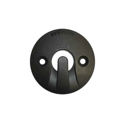 Stayput Dome Hook 60mm Horizontal Black