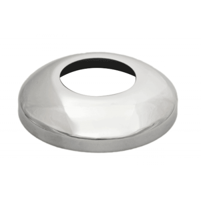 Post Custom Round 2 inch x 1.6mm Corner suits Round Handrail Mirror Polish AISI 316 (Suitable for HORIZONTAL sections)