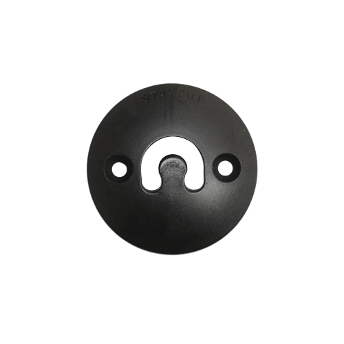 Stayput Dome Hook 60mm Vertical Black