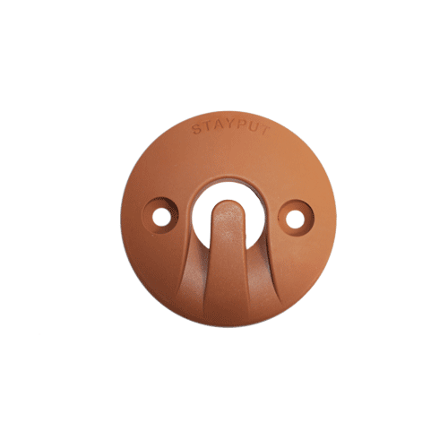 Stayput Dome Hook 60mm Horizontal Clay