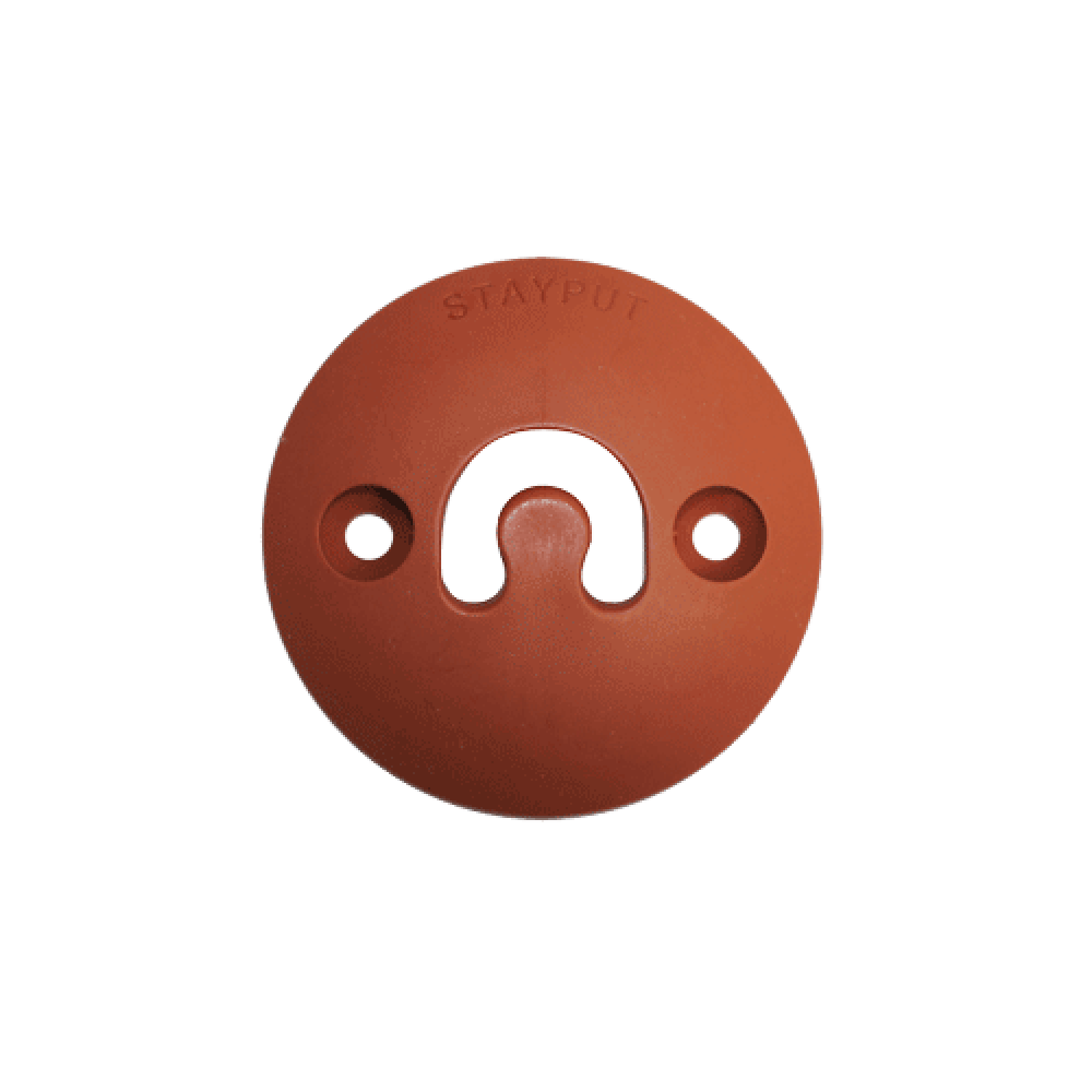 Stayput Dome Hook 60mm Vertical Terracotta