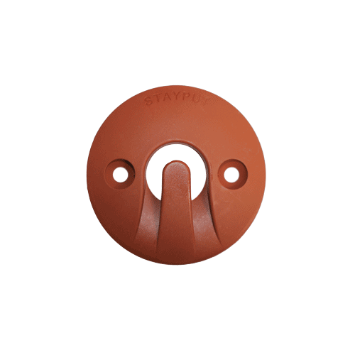 Stayput Dome Hook 60mm Horizontal Terracotta