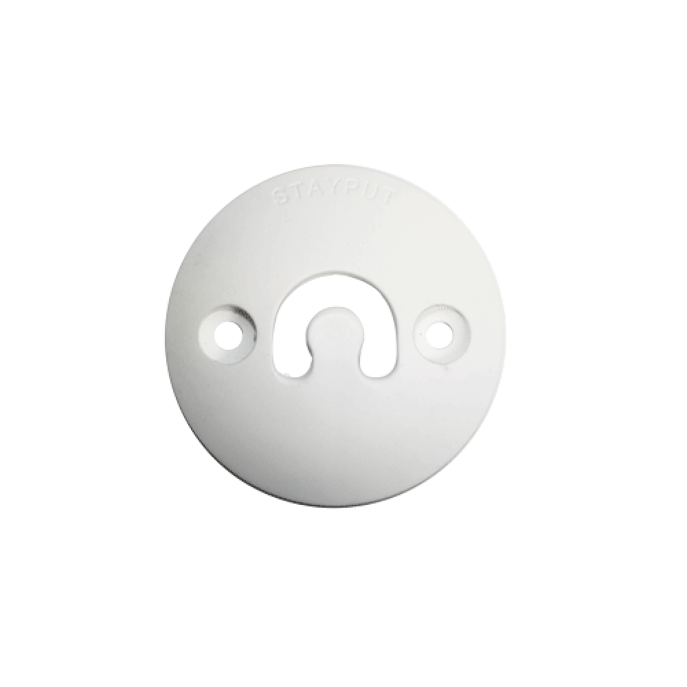 Stayput Dome Hook 60mm Vertical White