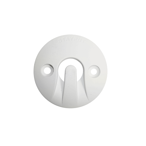 Stayput Dome Hook 60mm Horizontal White