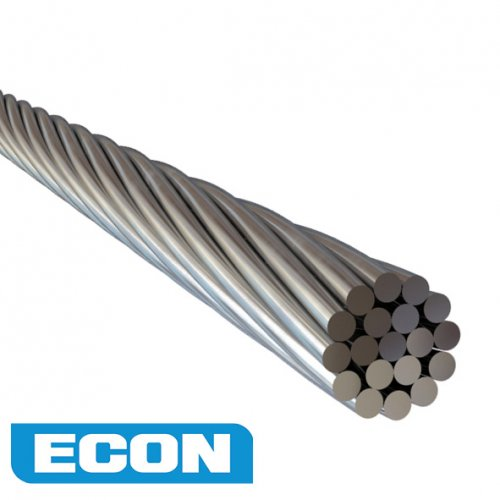 Wire Rope Econ 3.2mm 1x19 AISI 316 100 Metre