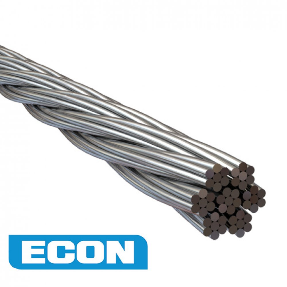 3.2mm Wire Rope Econ 7 x 7 AISI 316 100 Metre
