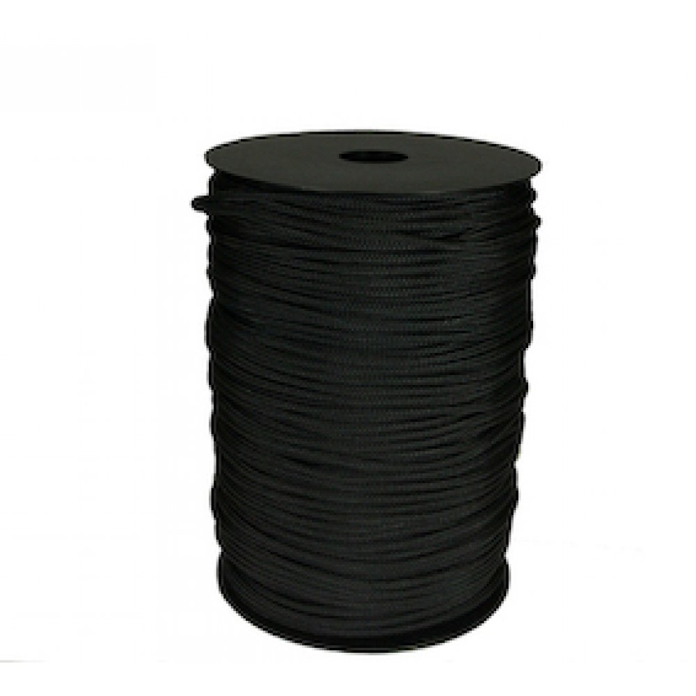 Leech Cord 4mm 200m Roll Black