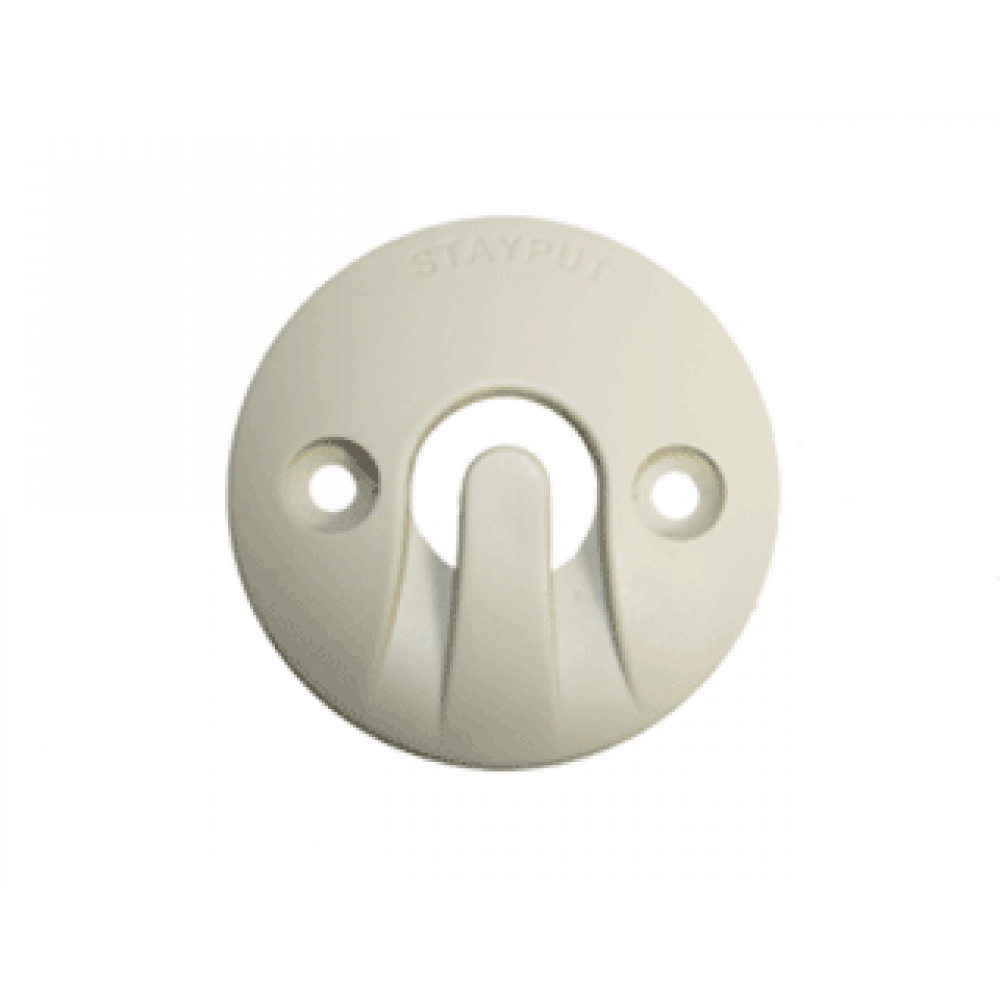 Stayput Dome Hook 60mm Horizontal Ivory