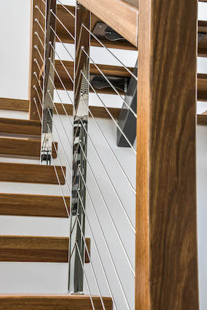 wire balustrade staircase