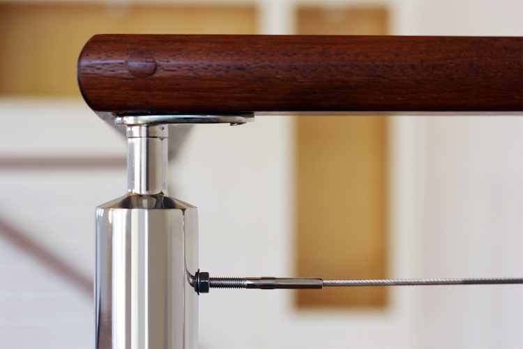 handrail supports stainless steel