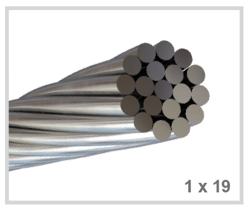 1x19 stainless steel wire