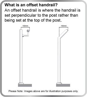 What is an offset handrail?